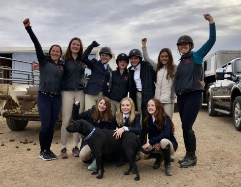 Members of the Aspen Equestrian Team celebrate after a show last year.