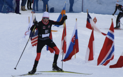 AHS student competing in a nordic race in 2019.