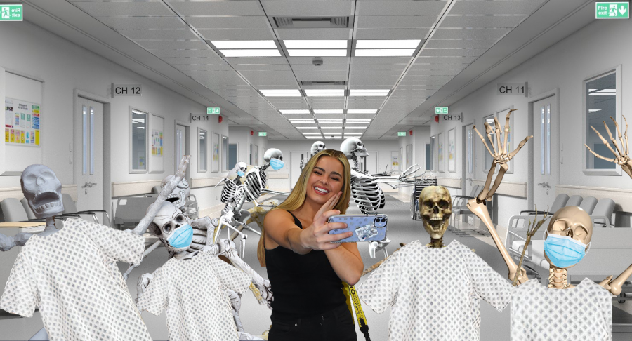Adderall Rae taking a selfie with the adoring fans who took her COVID weightloss injection.