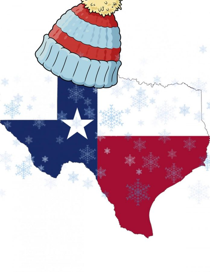 Texas freezing its butt off.