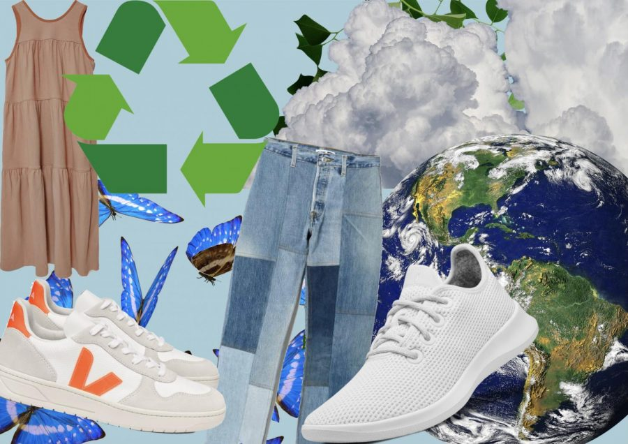 Reduce, reuse and recycle clothing and shop for sustainable clothing for Earth day.