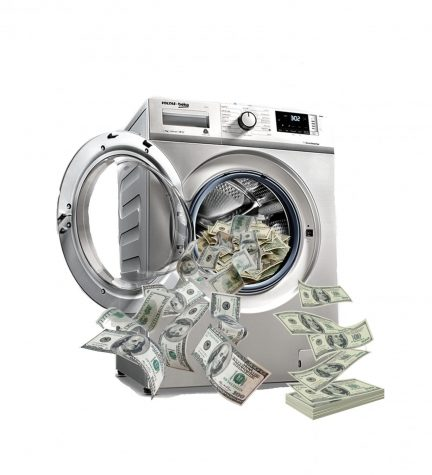 Money Laundering 101 in action as students clean their dirty cash.