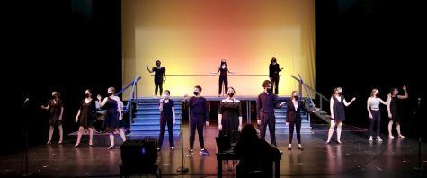"""Students rehearse """"Songs for a New World"""", beautifully captured by Jennifer Johnston"""