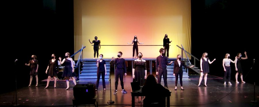 Students rehearse Songs for a New World, beautifully captured by Jennifer Johnston