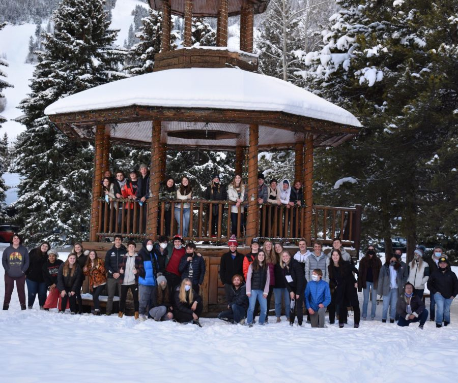 The senior class poses in Paepcke Park, a long standing tradition at AHS.