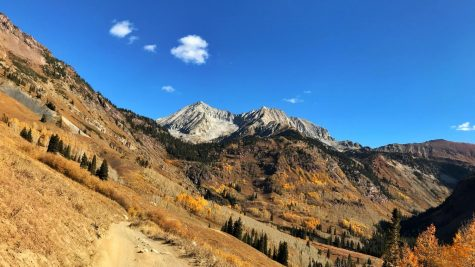 This photo is looking up towards Snowmass Peak after Klein's first climb and descent.