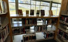One of the displays created by Cares, who will also be showcasing new titles during Banned Book Week on September 26th to October 2nd.