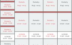 Screenshot of AHS daily class schedule